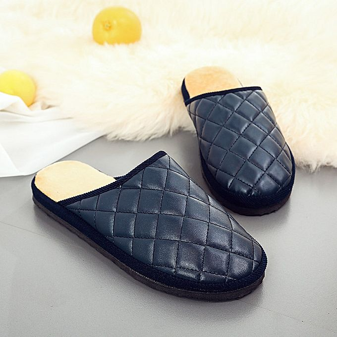 Men/'s Winter Warm Leather Slippers Comfy Mules Home House Casual Walking  !